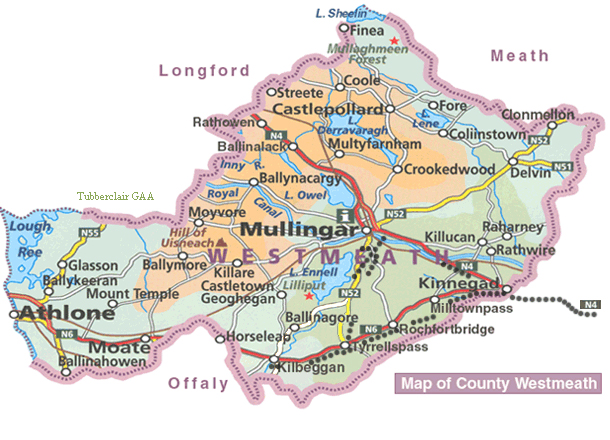 Westmeath Ireland Map.Objectives